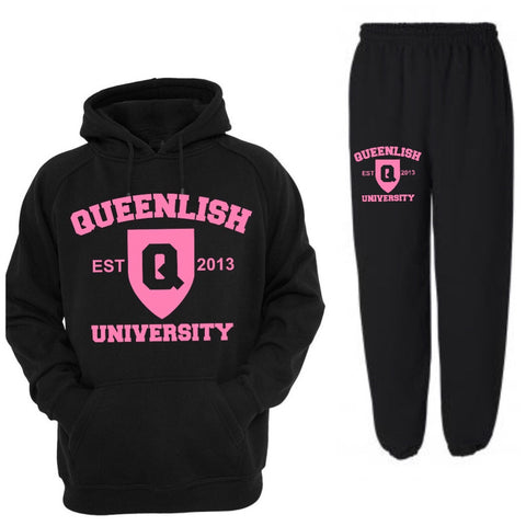 Pink Queen University Sweatsuit (2pc)