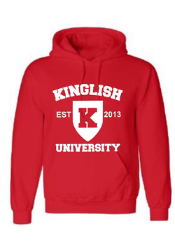 Kinglish University Hoodie (white logo)