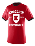 Kinglish University Ringer Tee