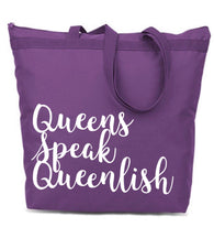 Queenlish Large Tote Bag