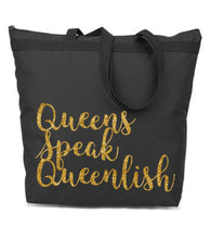 Gold Flake Queenlish Large Tote