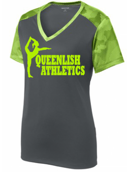 Queenlish Athletics CamoHex V-Neck