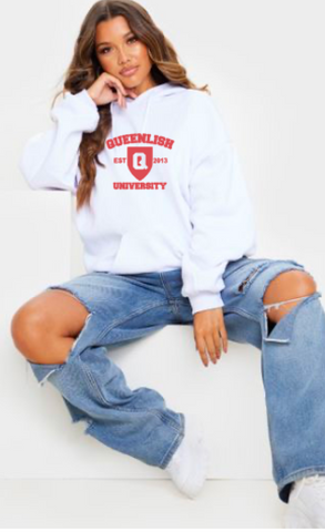 Queen University White Out Hoodie