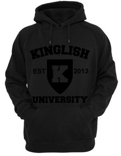 Black Out Kinglish University Hoodie