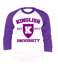 King Amethyst Baseball Tee
