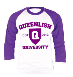 Queen Amethyst Baseball Tee