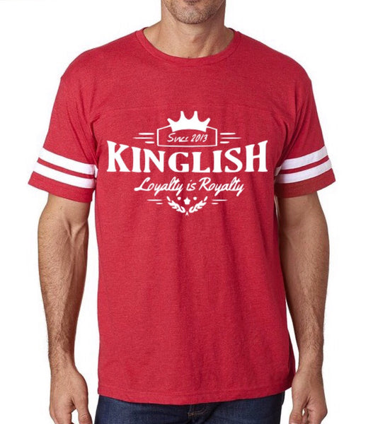 Red Kinglish Football Tee