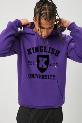 Kinglish University Hoodie (black logo)