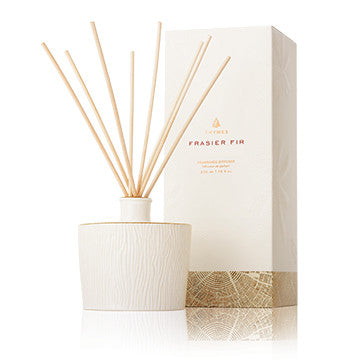 Thymes Frasier Fir Gilded Ceramic Reed Diffuser