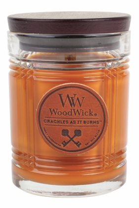 Leather WoodWick Reserve Collection Candle