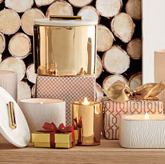 Thymes Frasier Fir Gilded Votive Candle