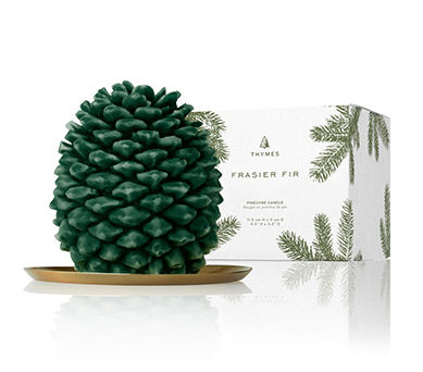Thymes Frasier Fir Northwoods Pinecone Candle -Petite
