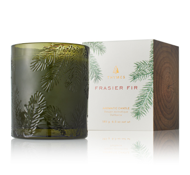 Thymes Frasier Fir Heritage Green Glass Candle
