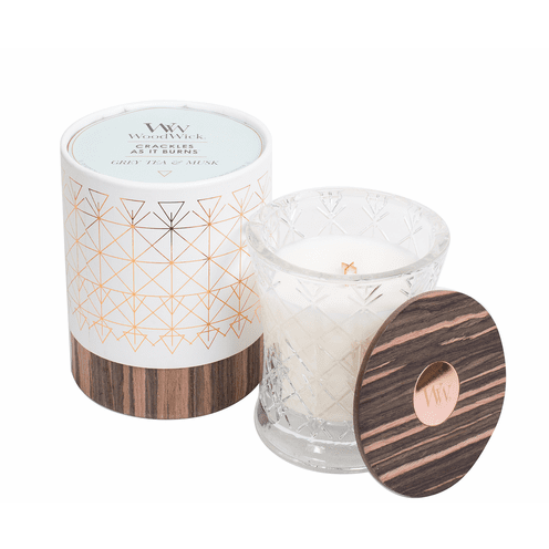 WoodWick Aura Collection - Grey Tea & Musk