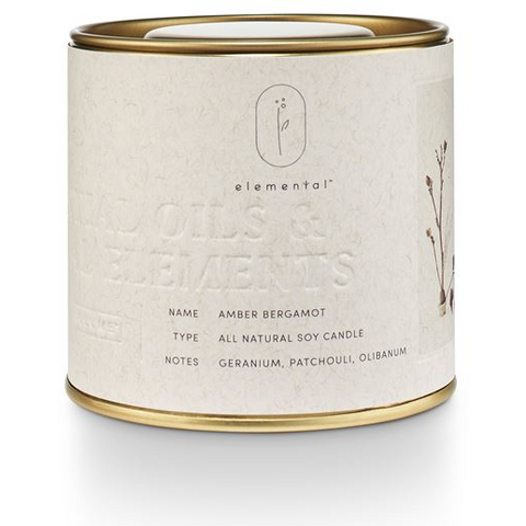 ILLUME Elemental Amber Bergamot - Natural Tin Candle