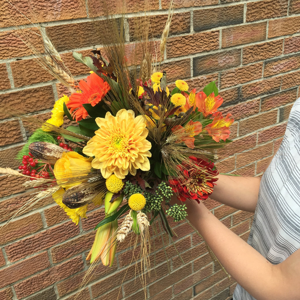 Autumn-Inspired Hand-Tied Bouquet