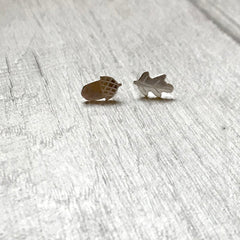 Acorn and Oak leaf studs