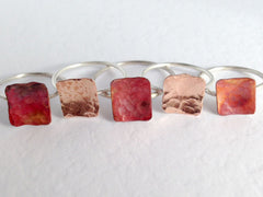 Copper rectangle ring