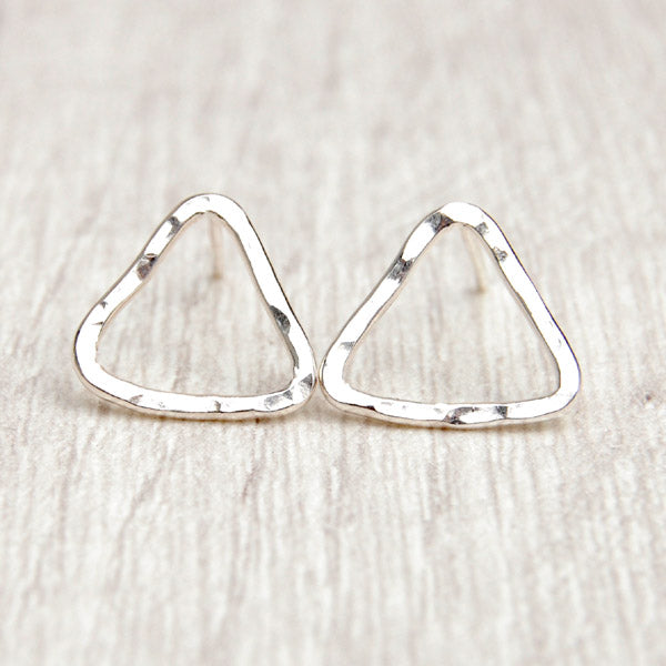 ead01f23e Sterling silver triangle studs – Zoe Ruth Designs