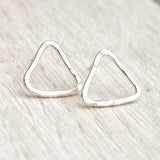 Sterling silver triangle studs