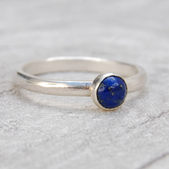 Lapis Lazuli single stone ring