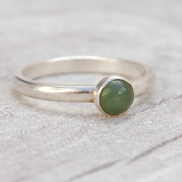 Nephradite Jade single stone ring