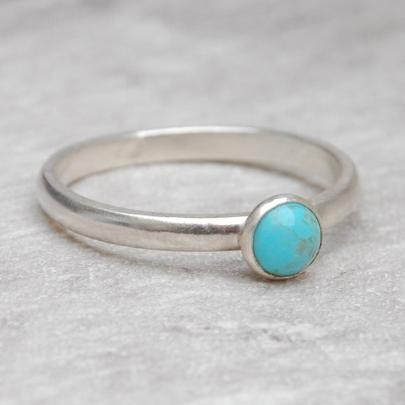 Turquoise single stone ring