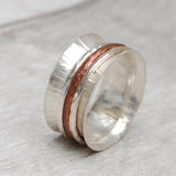 Spinner ring with skinny stackers SCS