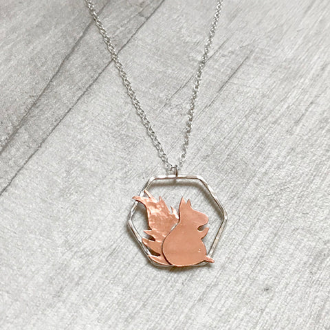 Red squirrel necklace