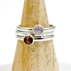 Stack of three rings - Lavender Amethyst, Tigers Eye