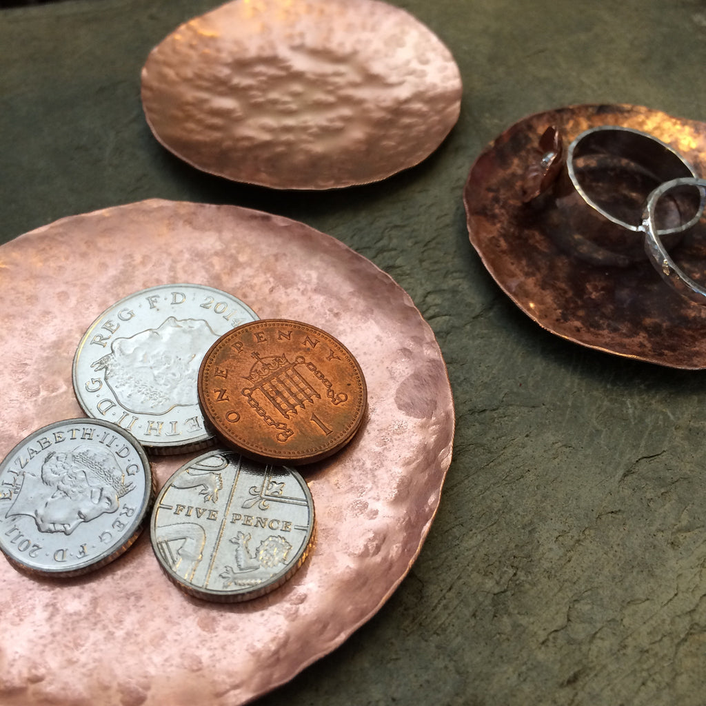 Copper ring and coin dish