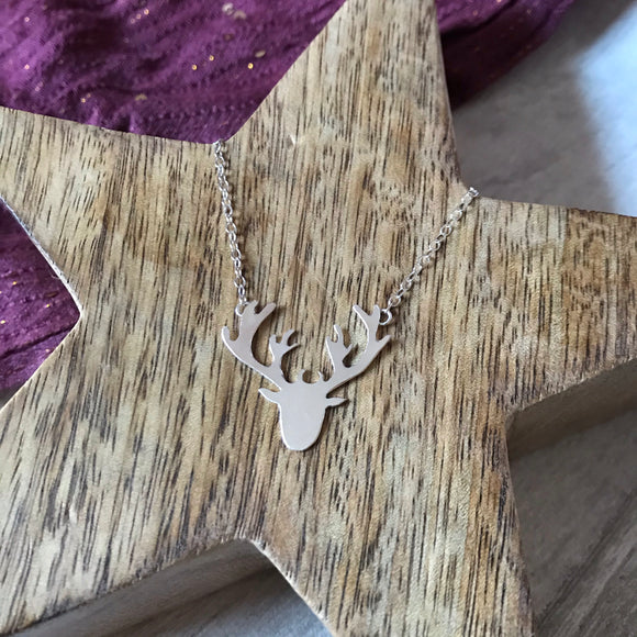 Silver Stag necklace