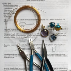 Wire wrapped ring and pendant workshop