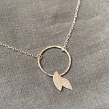 Silver leaves necklace