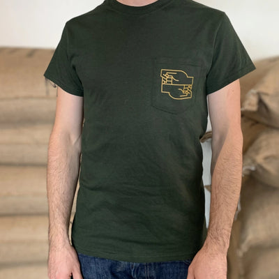 BXA Pocket Tee Shirt - Green