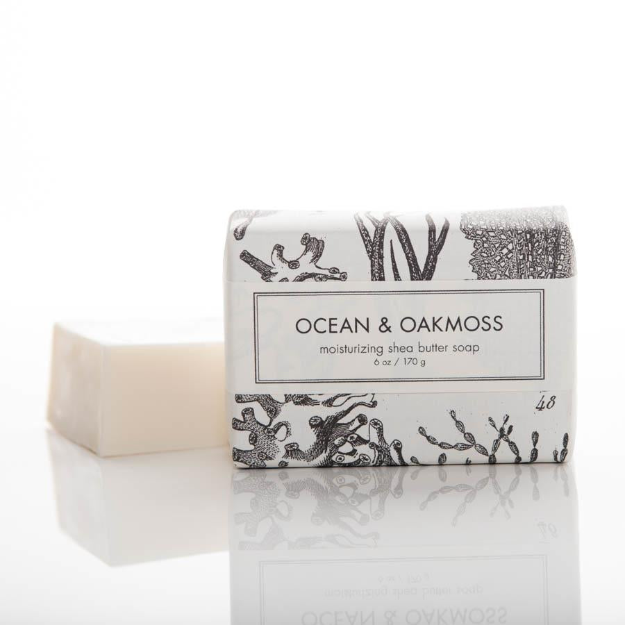 ocean and oak moss bar soap