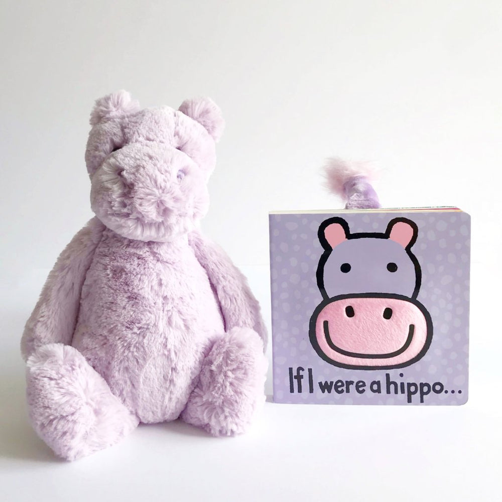 jellycat hippo and book