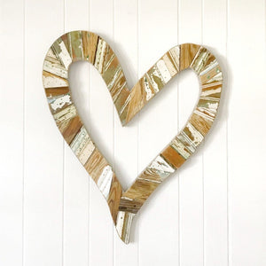 reclaimed wood open heart
