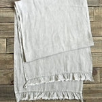 ruffle edge linen runner - natural