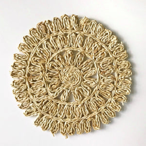 woven straw placemats
