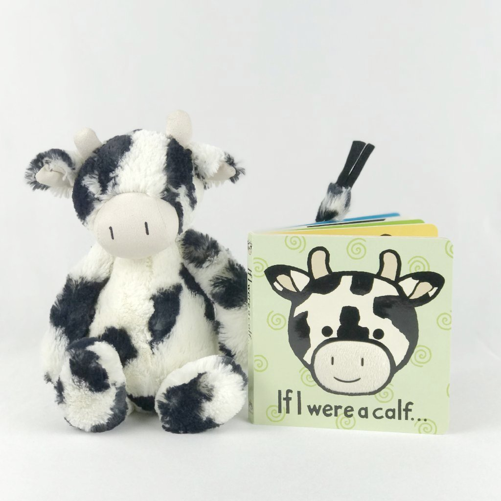 jellycat calf and book