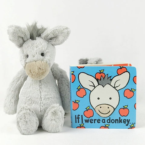 jellycat donkey and book