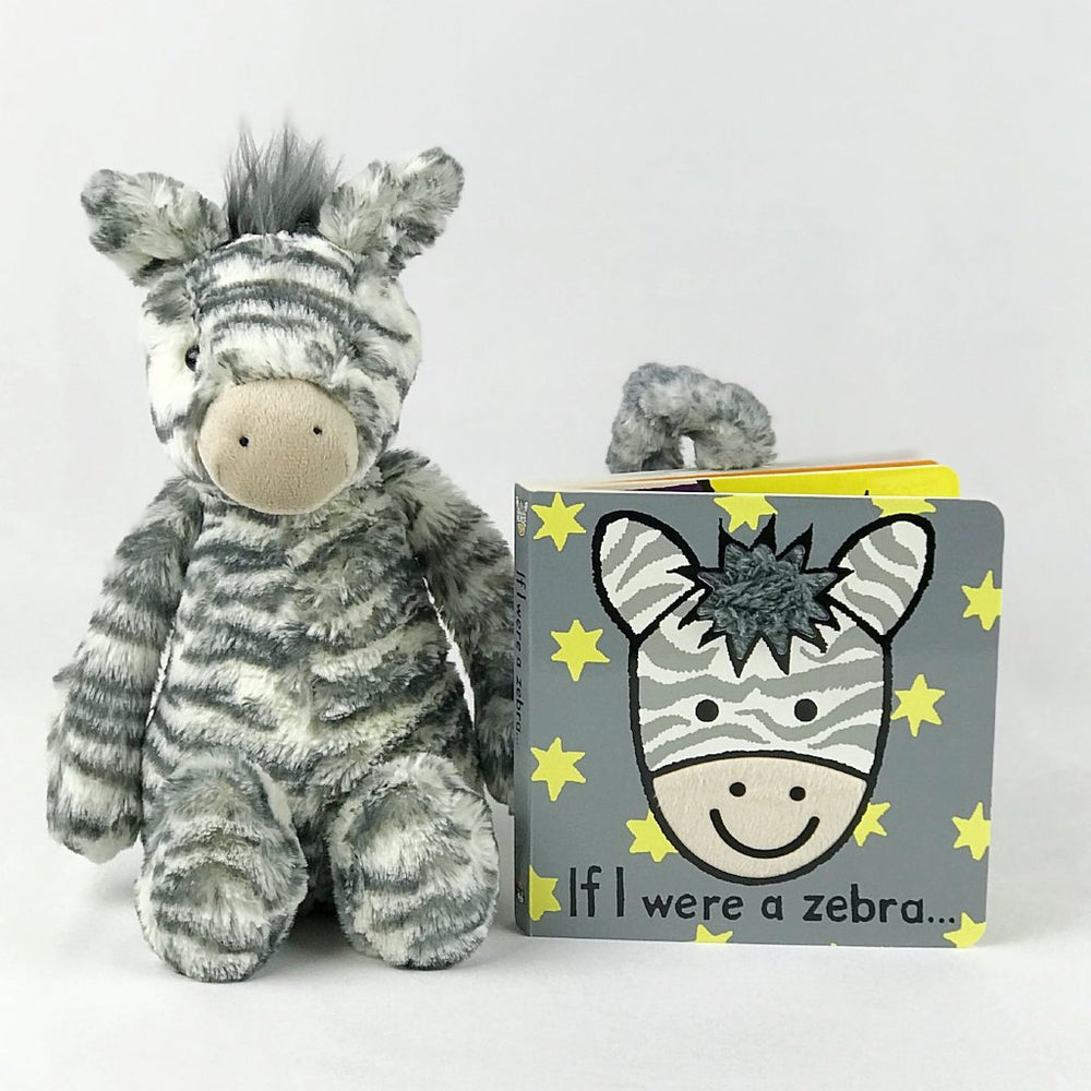 jellycat zebra and book