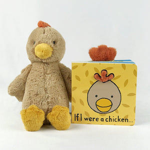 jellycat chicken and book