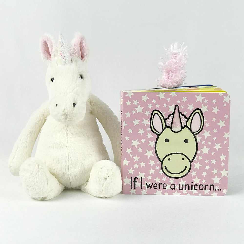 jellycat unicorn and book