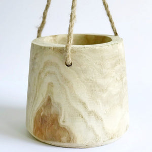 paulownia wood hanging planter