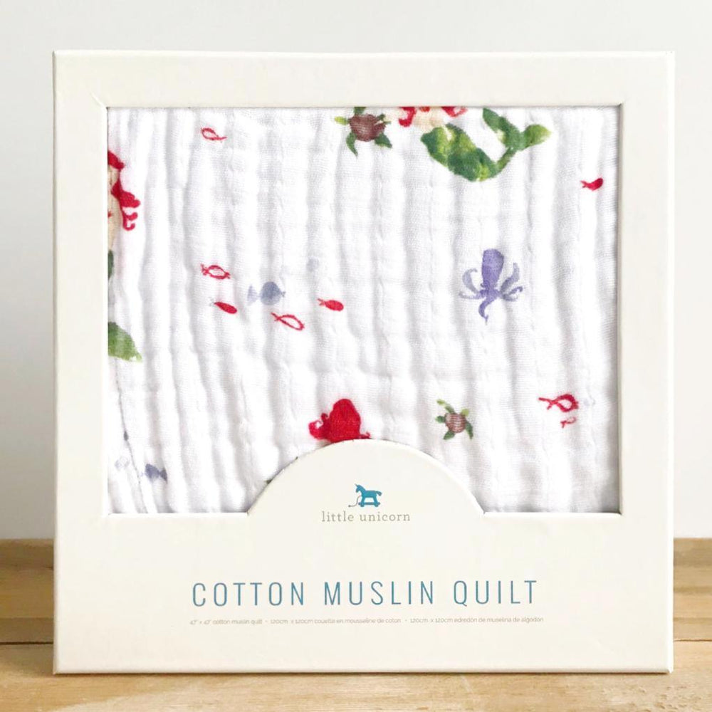 mermaid cotton muslin quilt