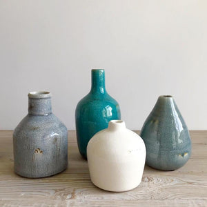 small terra cotta vases
