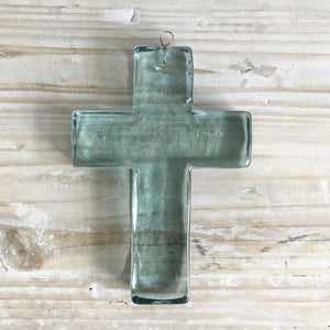 aqua glass cross