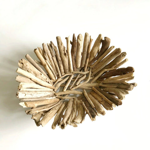 driftwood oval bowl